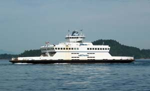 Ferry going to either Pender Island or Mayne Island