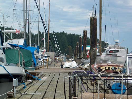 The controlled chaos of a marina dock...